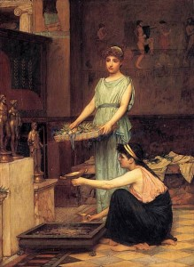 the-household-gods-1880-artist-John-William-Waterhouse