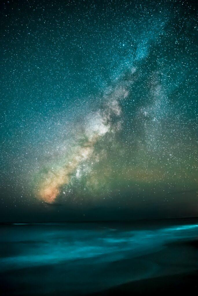 Milky Way over water